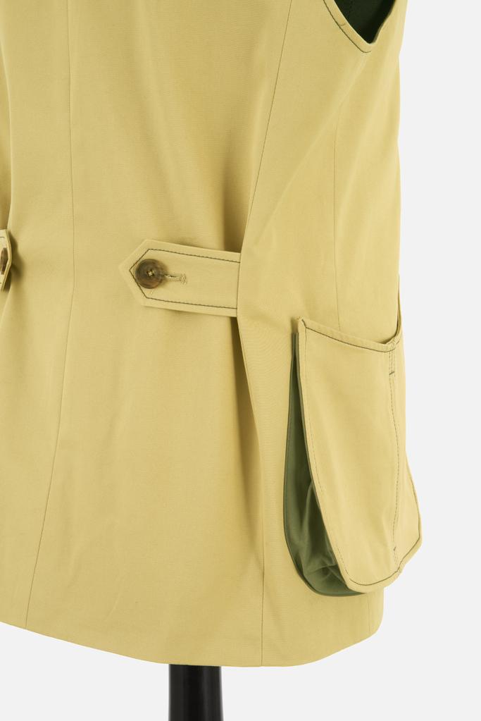 Mens Safari Gilet – Sandstone Cotton Twill
